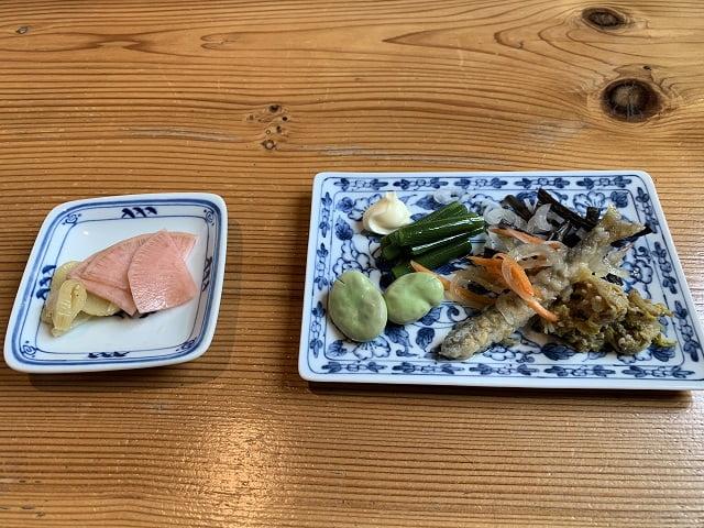 箱根仙石原「座りや」野菜天せいろセットの惣菜
