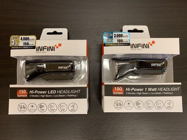 自転車LEDライト電池式 サターンI-310Pと320P比較
