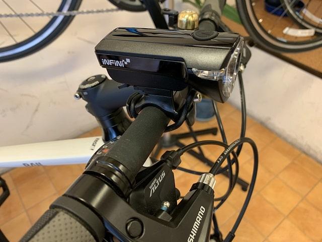 自転車LEDライト電池式サターンI-320P取付