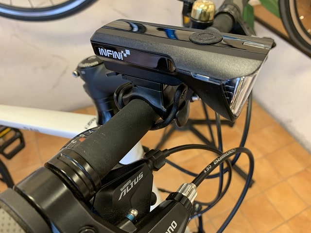 自転車LEDライト電池式サターンI-310P取付