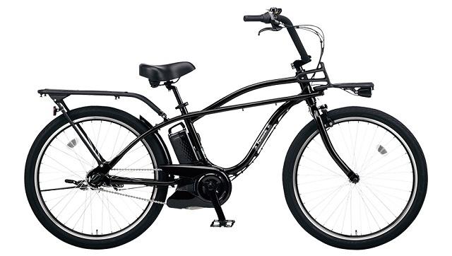 ビーチクルーザー電動アシスト自転車 パナソニックBP02ブラック