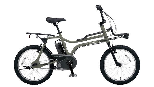 BMXスタイル電動アシスト自転車パナソニックEX オリーブカラー