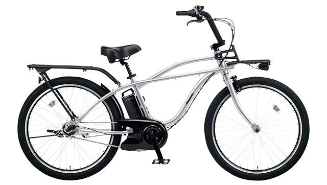 ビーチクルーザー電動アシスト自転車 パナソニックBP02シルバー