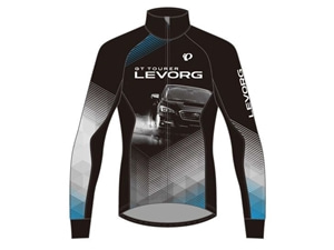 2019スバルサイクルジャージ3555-BLスバルウインドブレークプリントジャケット スバルレボーグ
