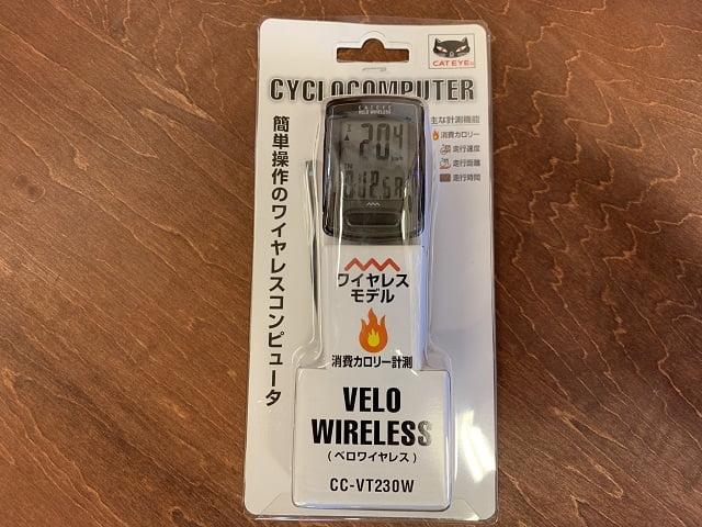 サイクルコンピューターCC-VT230Wベロワイヤレス