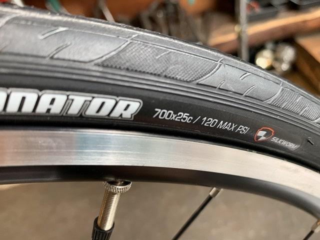 タイヤ周長設定のためのタイヤサイズ確認