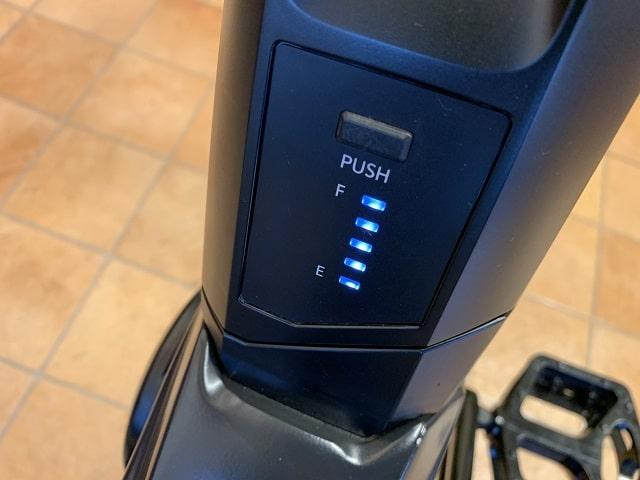 パナソニックEバイクXM1バッテリー本体残量表示