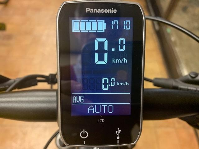 パナソニックEバイクXM1液晶センターディスプレイ