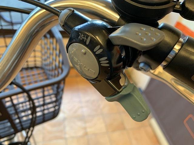 パナソニック電動アシスト自転車ビビL20 BE-ELL032V 3段変速レバー