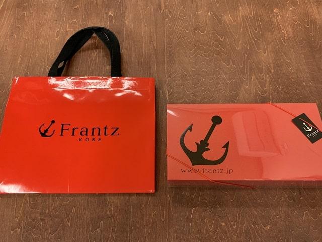 神戸フランツの工具セットチョコレートの袋とパッケージ箱