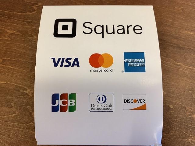Squareカード決済利用可能カード会社