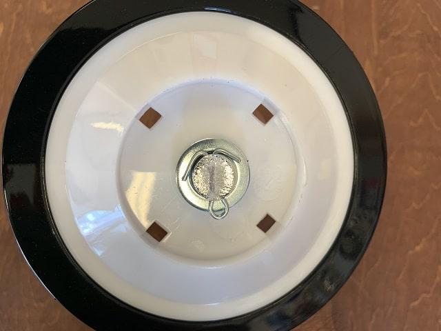 自転車補助輪取付割ピンを曲げる