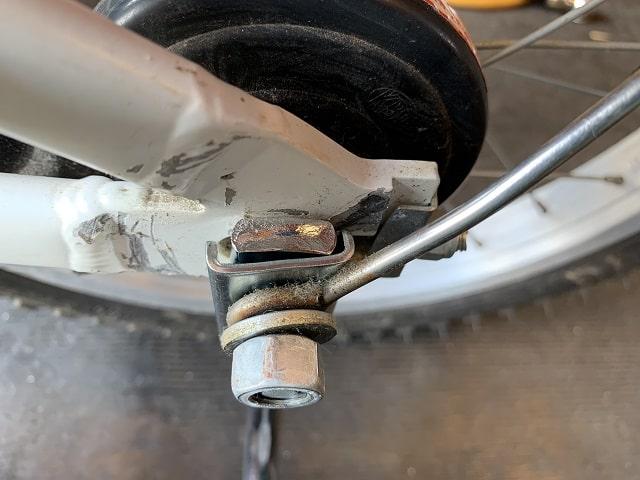 自転車補助輪取付の順番