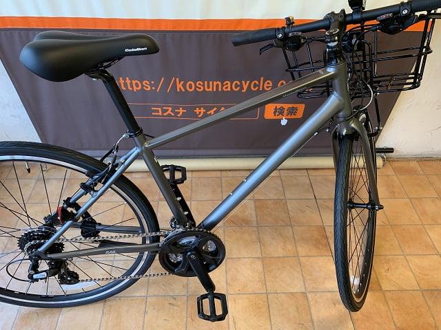 クロスバイクでカゴ付き仕様にすると駐輪時ハンドルが不安定