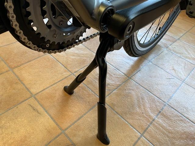 クロスバイクにダブルレッグセンタースタンドなら安定