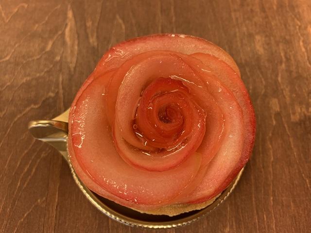 薔薇のように可愛いりんご「アップル&ローゼスタイル」真上から見る