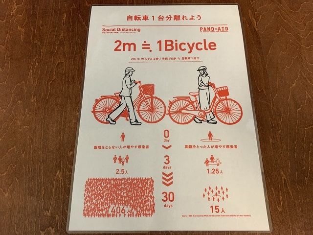 ソーシャルディスタンス自転車