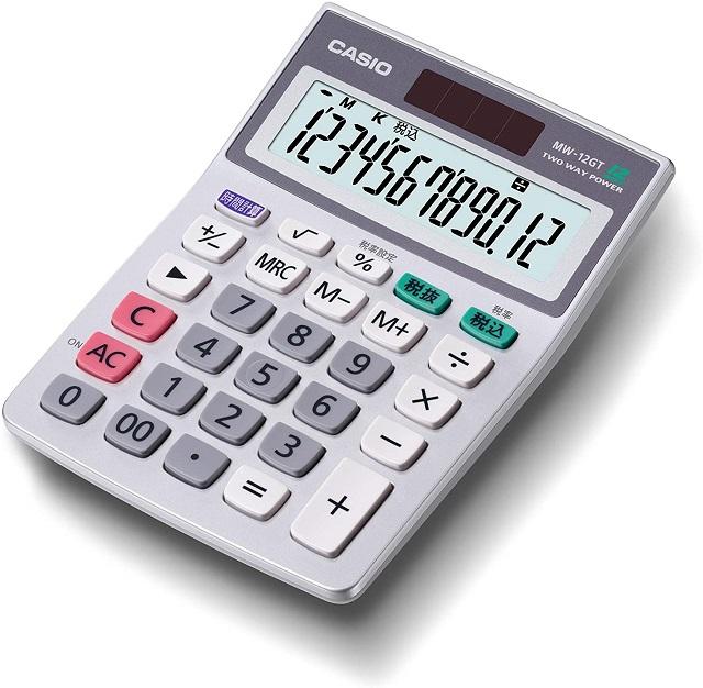 カシオ電卓MW-12GT-N