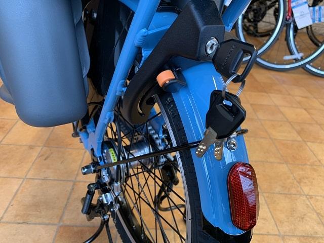 パナソニック子乗せ電動自転車ギュットクルームのサークル錠