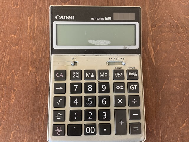 キャノンの電卓
