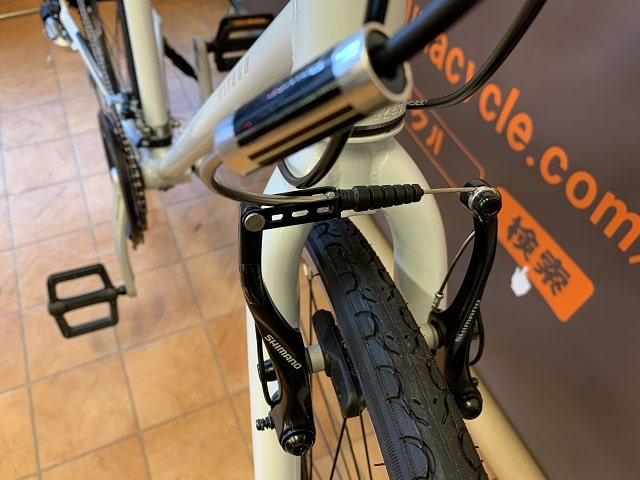 ミヤタのクロスバイク「カリフォルニアスカイC」Vブレーキパワーモジュレター