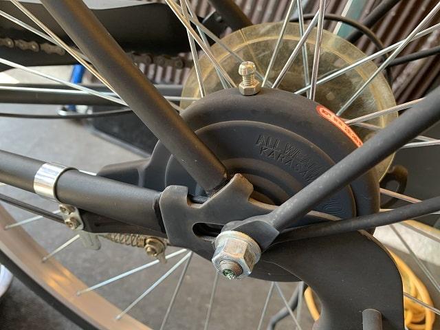 一般自転車の後ドラムブレーキ