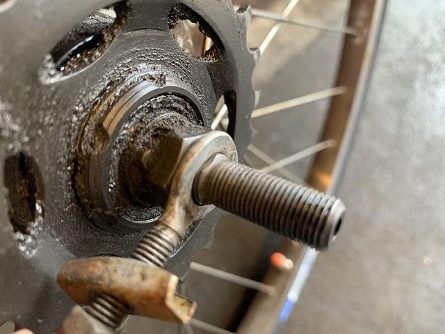 自転車3段変速チェーン引き正しい取付位置
