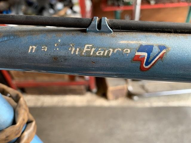 1980年プジョーランドナー自転車のMade in Franceデカール