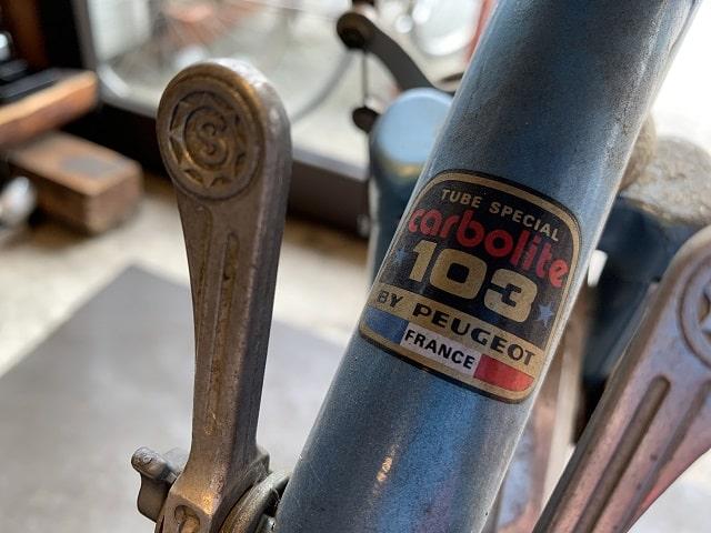 Carbolite103のプジョーランドナー自転車用ステッカー