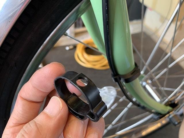 電動アシスト自転車配線クリップを使う