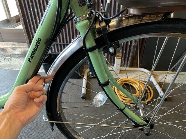 ビビDX電動アシスト自転車のフロントフォーク交換完了