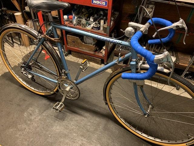 ビンテージプジョーランドナー自転車のサイクルクリーニング完了