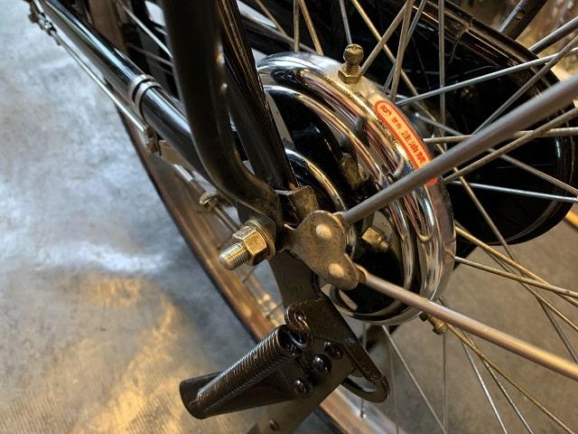約25年前の実用車ミヤタワーカーの後輪部もサイクルクリーニングでピカピカ