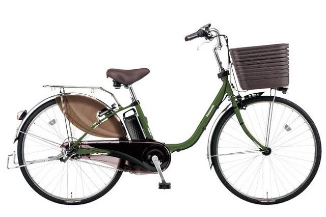 パナソニック電動アシスト自転車「ビビDX」マットカーキーグリーン限定カラー