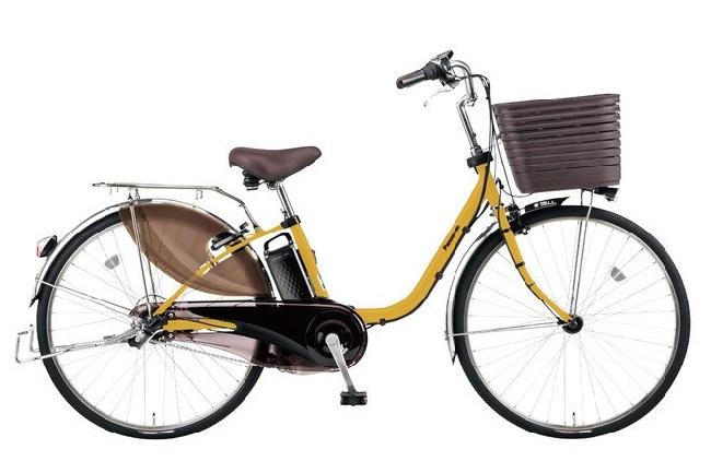 パナソニック電動アシスト自転車「ビビDX」マットハニー限定カラー