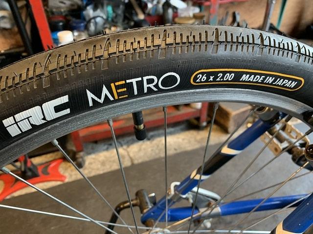 約20年前のマウンテンバイク新しくしたIRCメトロタイヤ