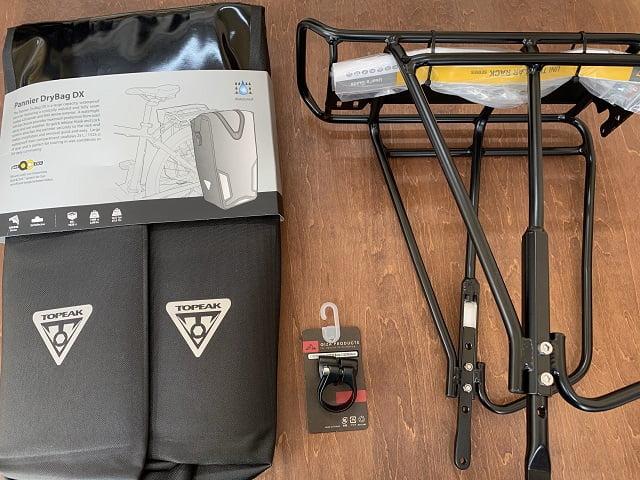 レイル700A取付用リアキャリア・シートダボ付きクランプ・サイドバッグ