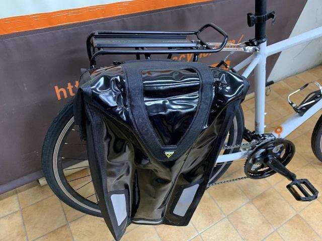 クロスバイクにリヤキャリア&サイドバッグ装着