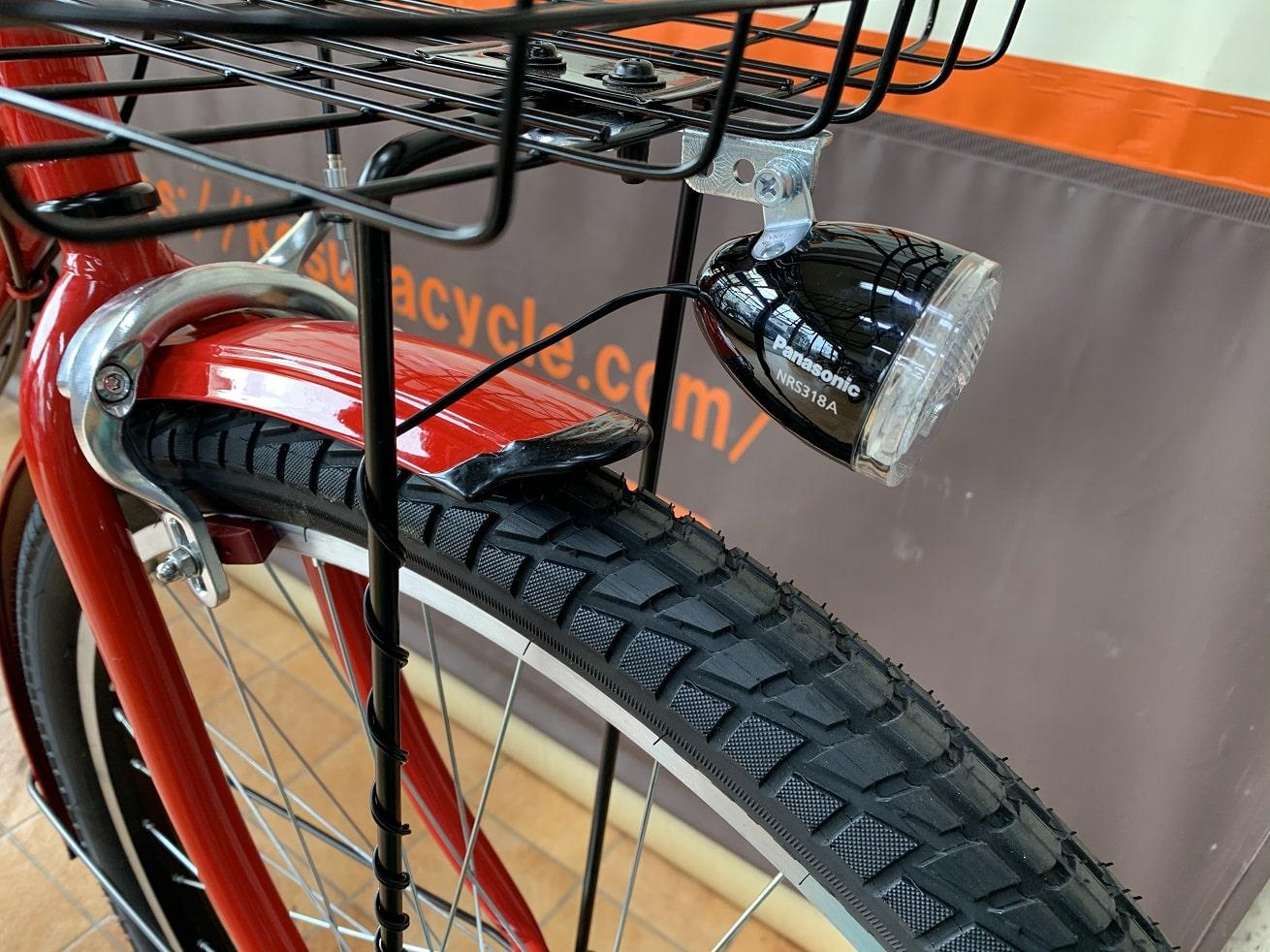 マルキン自転車「カンペール」LEDセンターライト