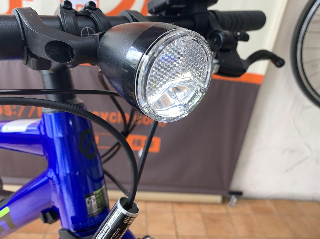 Panasonic電動アシスト自転車ジェッターのヘッドライト