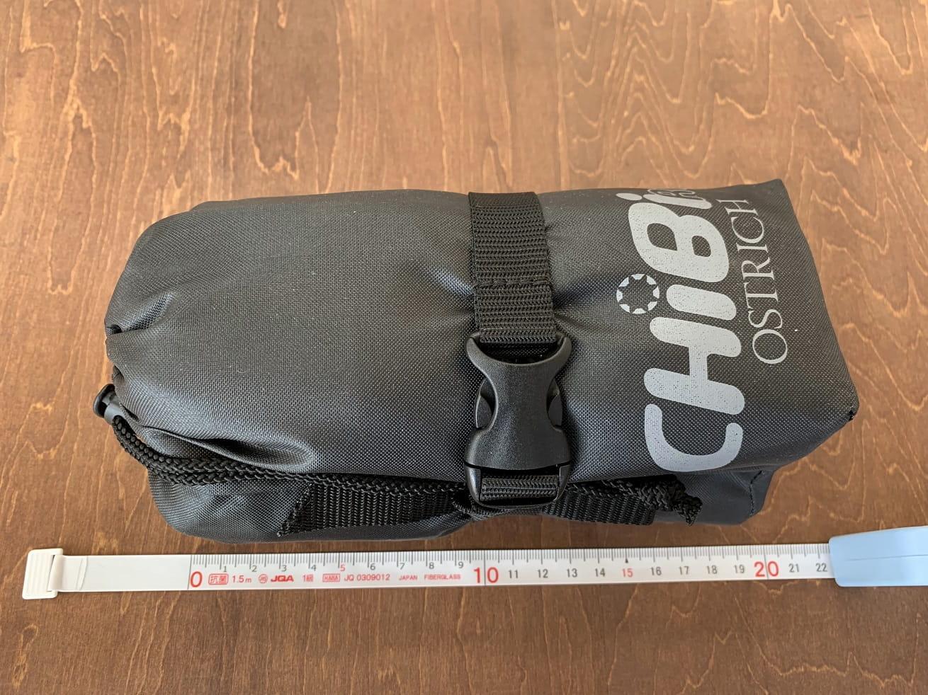 オーストリッチ ちび輪バッグのサイズ