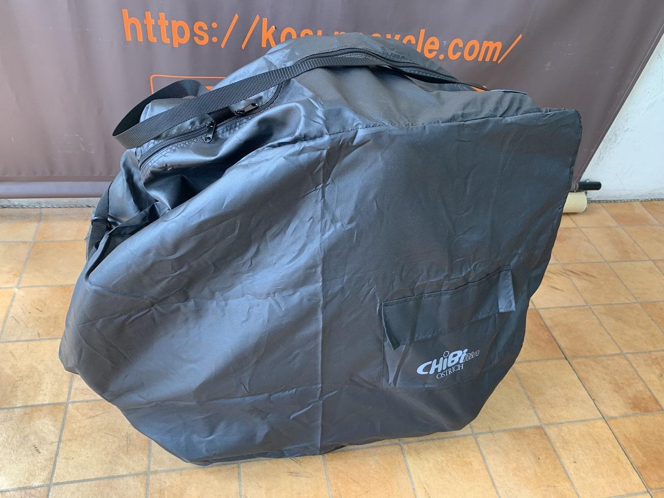 ESRパーサーをオーストリッチのちび輪バッグ輪行袋に収納完了