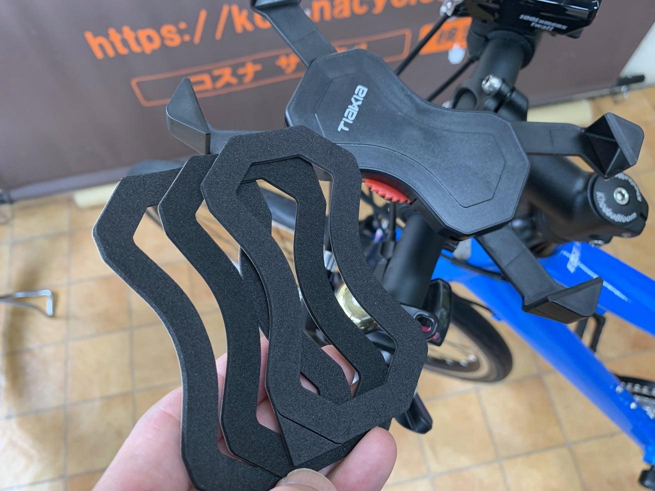 自転車スマホホルダー「Tiakia PB03-AC」スマホ本体用スポンジパッド