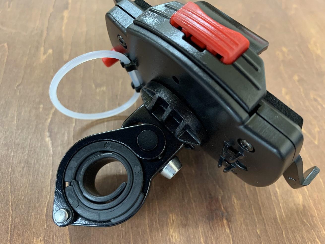 自転車スマホホルダー「ミノウラiH-520-D」本体とクランプ取り付け
