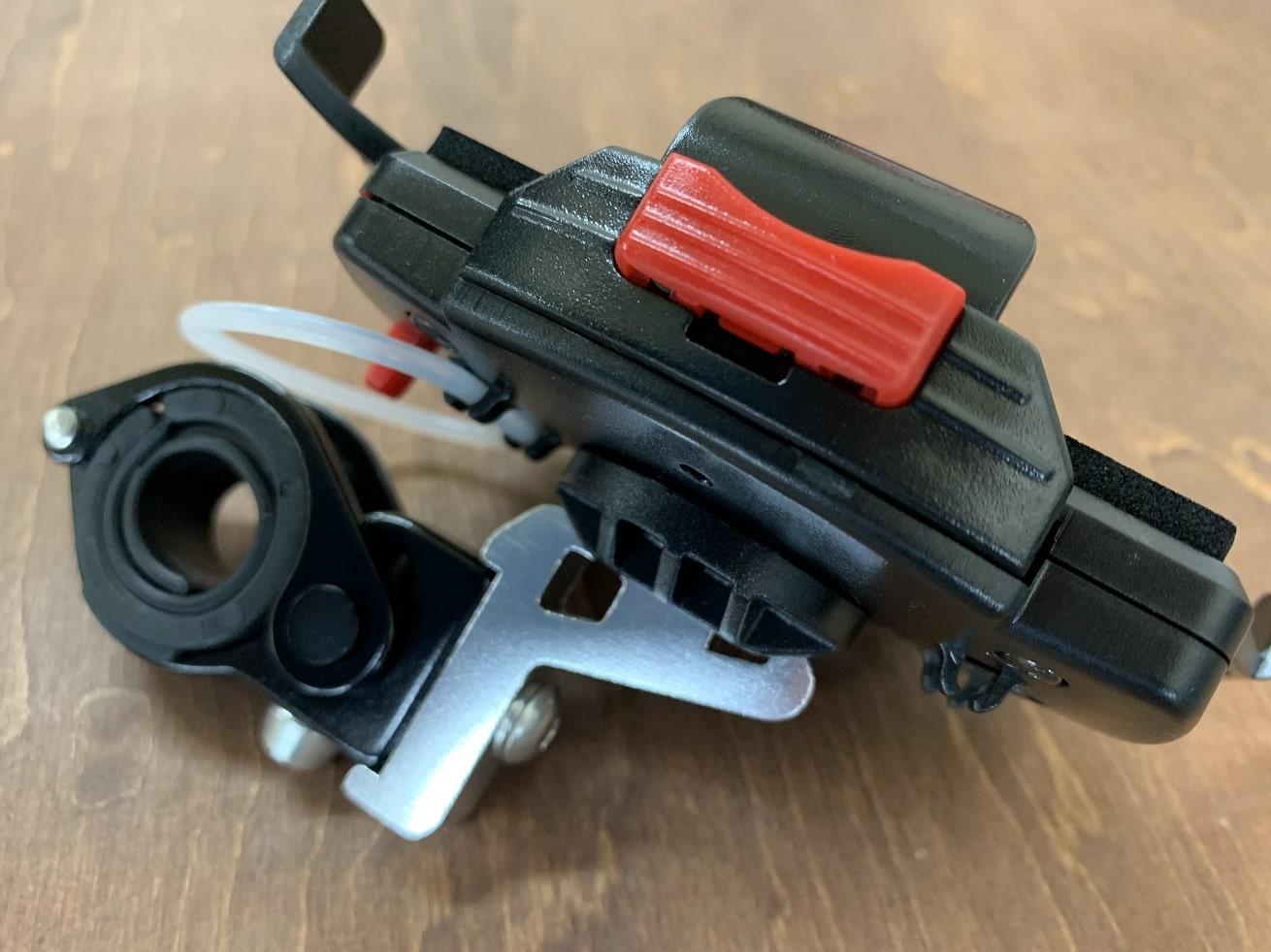 自転車スマホホルダー「ミノウラiH-520-STD」横付けアダプター取り付け