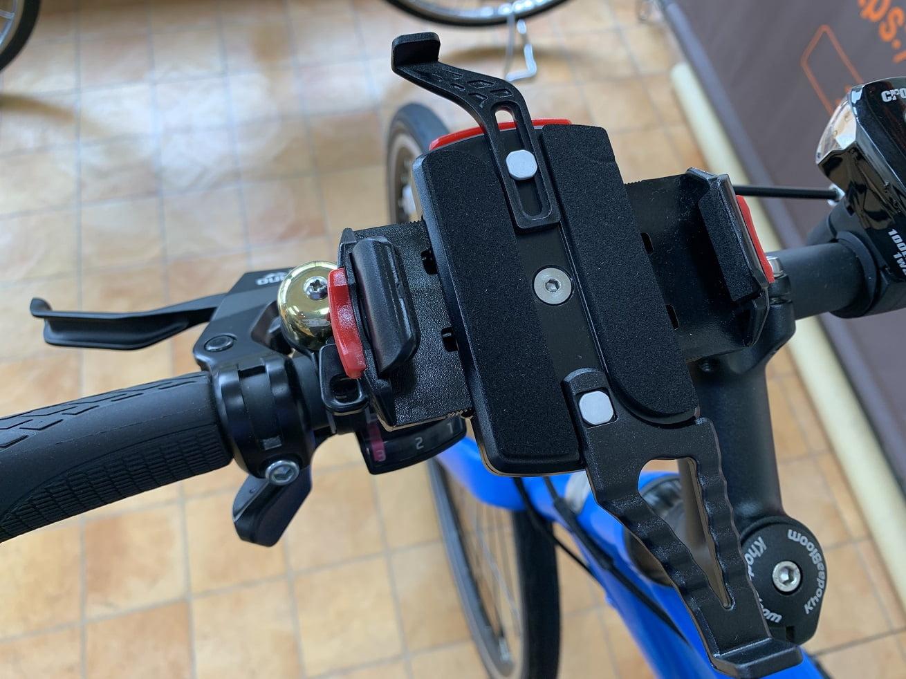 自転車スマホホルダー「ミノウラiH-520-STD」本体取付