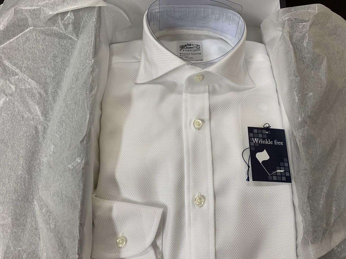 プリンシプルオーダーシャツの完成品